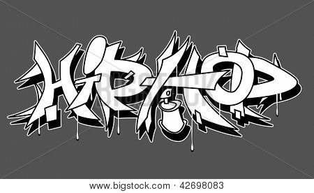 Hip Hop urban graffiti vector illustration