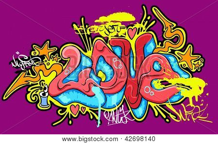 Graffiti urban art. Vector illustration