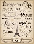 stock photo of swirly  - Paris calligraphy  - JPG