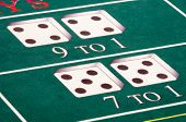 stock photo of crap  - The odds are against you at the craps table - JPG