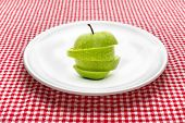 Green Apple On Plate