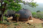 image of witch-doctor  - Isangoma house in Shakaland Zulu Village in Kwazulu Natal province - JPG