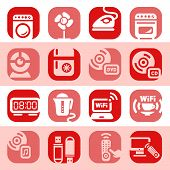 picture of televisor  - Elegant Colorful Electronic Home Devices Icons Set Created For Mobile - JPG
