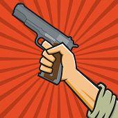 Постер, плакат: Советский пистолет