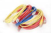 stock photo of utp  - Utp cables on white background close up - JPG