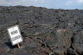 Постер, плакат: Дорога закрыта лавовые поля вблизи kalapana большой остров Гавайи