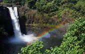 Постер, плакат: Rainbow Falls большой остров Гавайи 02