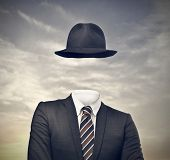 picture of hollow  - invisible businessman with hat - JPG
