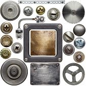 stock photo of gear wheels  - Screw heads - JPG