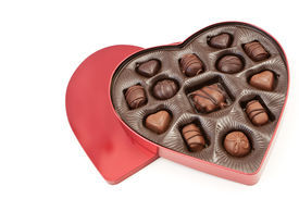 picture of heart shape  - A Heart Shaped Valentines Box With Candy Treats - JPG