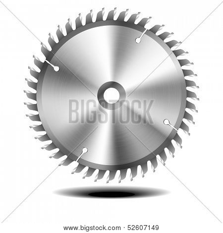 detailed illustration of circular saw blade