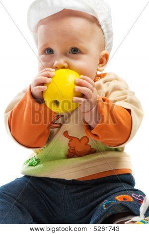 Baby Biting Apple
