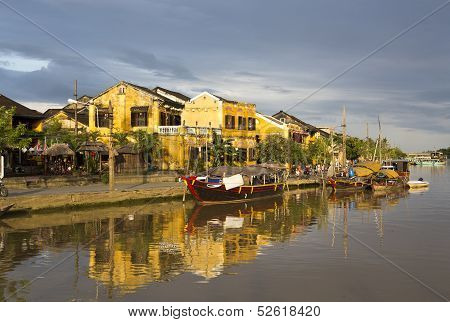 Hoi An Riverside In Vietnam