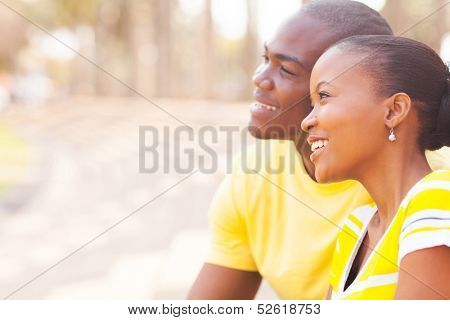 portrait of cute african couple dating