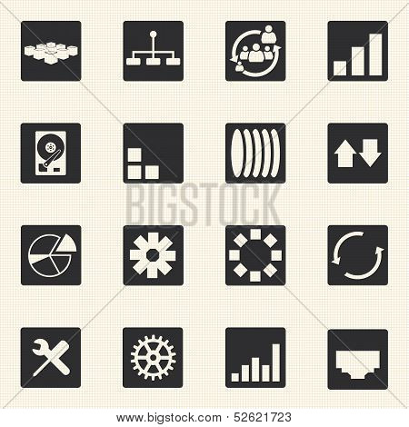 Simple set of diagram graphs and statistic related vector icons