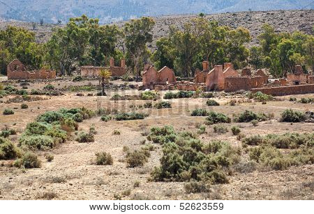 Ruins Of Abandon Kanyaka Homestead. Flinders Ranges. South Australia.