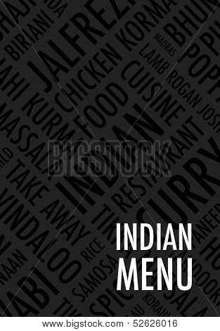 indian  menu background