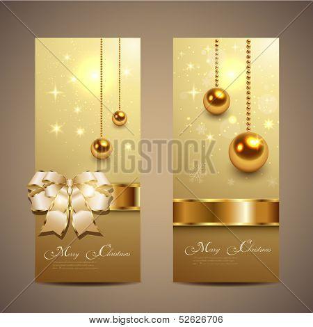 Elegante Navidad banners, vector.