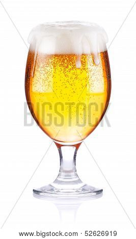 Goblet With Fresh Beer
