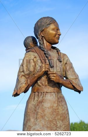 Sacajawea Bronze Close-up