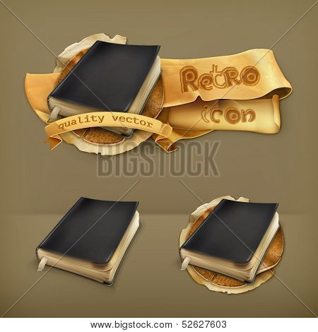Old book, vector icon