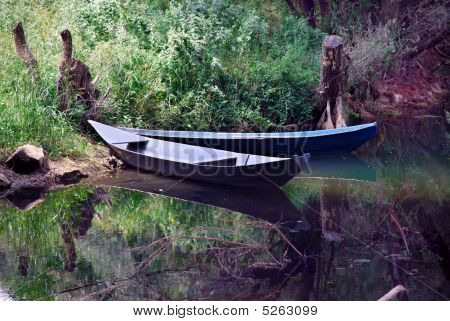 Boats Over Tranquil Water