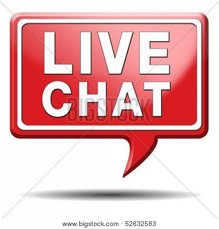 chat live icon or button