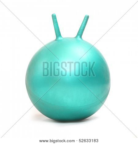 Aerobic ball isolated on a white background.
