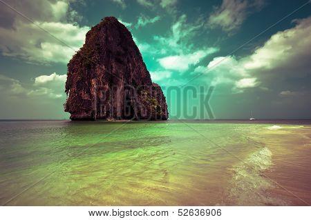 Tropical beach landscape. Thailand