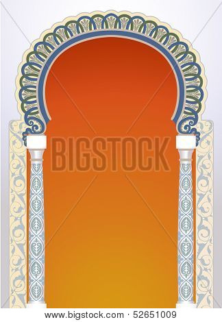 Vector illustration of high detailed floral arch in EPS10 format