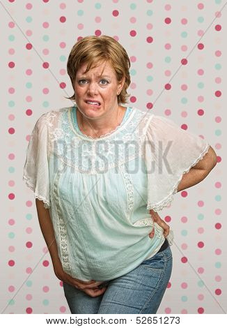 Uneasy Pregnant Lady In Pain