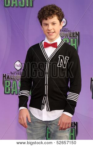 LOS ANGELES - OCT 20:  Nolan Gould at the Hub Network First Annual Halloween Bash at Barker Hanger on October 20, 2013 in Santa Monica, CA
