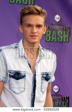 LOS ANGELES - OCT 20:  Cody Simpson at the Hub Network First Annual Halloween Bash at Barker Hanger on October 20, 2013 in Santa Monica, CA
