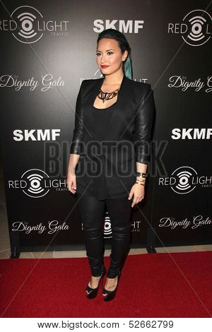 LOS ANGELES - OCT 18:  Demi Lovato at the Dignity Gala and Launch of Redlight Traffic App at Beverly Hilton Hotel on October 18, 2013 in Beverly Hills, CA
