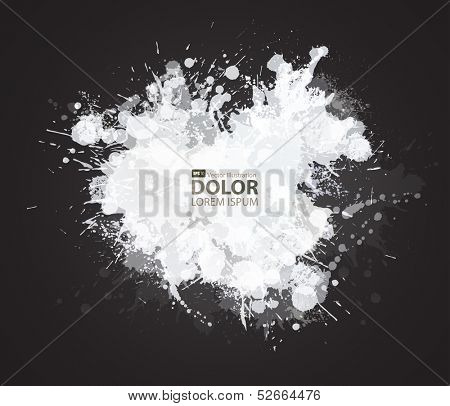 White blots on the black background
