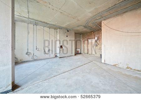 Empty room under repair