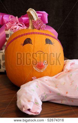 Happy Pumpkin Baby Girl