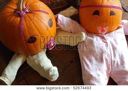 Pumpkin Babies From Above
