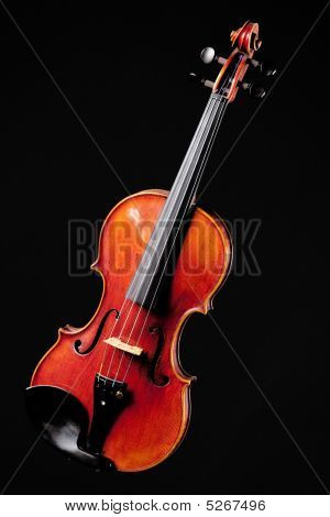 Violin Viola Fiddle Isolated On Black