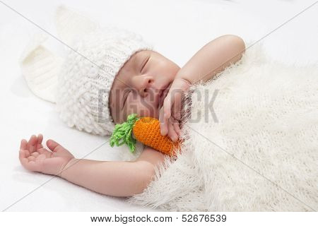 The Baby In A Suit Of A Hare