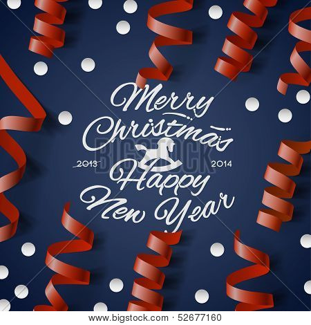 Christmas Party card? with streamers and confetti