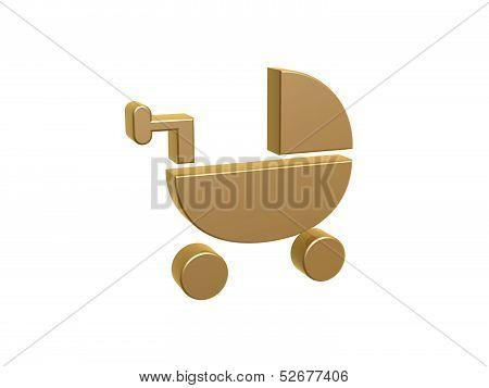 Golden Baby Bassinet