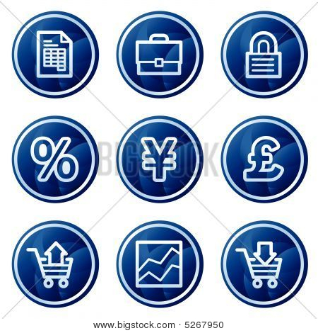 E-business Web Icons, Blue Circle Buttons Series