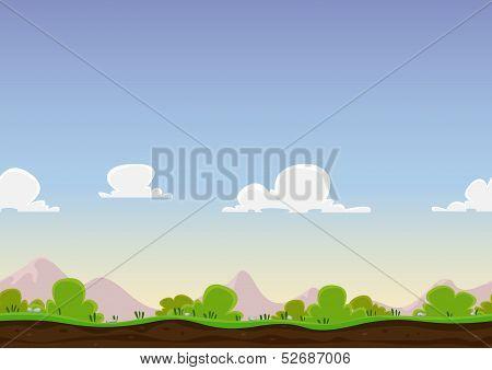 Seamless Spring Landscape