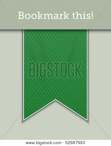 Green textured bookmark decoration ribbon