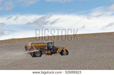 Spraying Farm Field