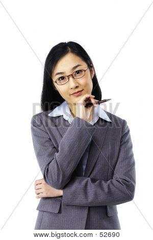 asiatische Dame
