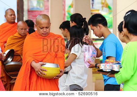 Give food for monk