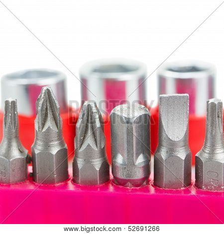 screwdriver tips close up