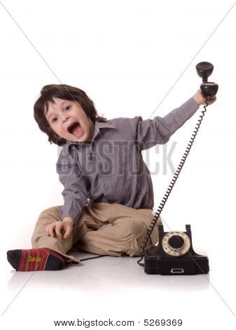 The Boy With A Telefone